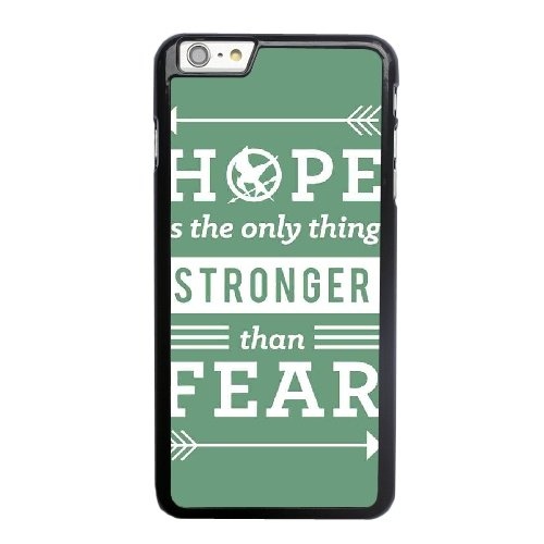 Coque,Apple Coque iphone 6 6S (4.7 pouce) Case Coque, Generic Unger Games Quote - Hope Is The Only Thing Stronger Than Fear Cover Case Cover for Coque iphone 6 6S (4.7 pouce) Noir Hard Plastic Phone C