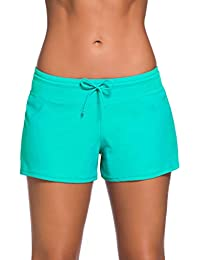 Women Sports Summer Bottom Slit Swim Beach Board Shorts