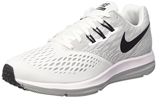 Winflo Nike Chaussures Wmns blanc 4 Zoom Loup Blanc Femme gris noir De Running wB41aRExqB