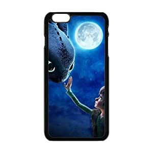 HDSAO Moon night fish and boy Cell Phone Case for Iphone 6 Plus