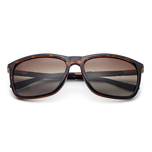 Deportes Protección Sol Lens UV Brown Polarizadas Conducir de Frame Gafas BE002 BLEVET para para Hombres Mujeres Leopard zEavq1gwZ
