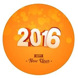 alfombrilla de ratón Feliz Año Nuevo 2016 - ronda - 20cm