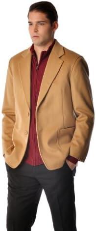 [해외]캐시미어 스포츠 코트 남성용 / Cashmere Boutique: Cashmere Sport Coat for Men (Color: Camel Brown, Size: 40)