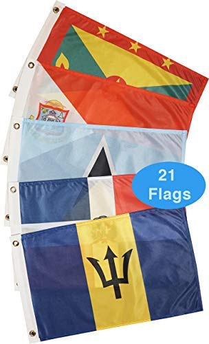 Courtesy Boat Flag Pack: Eastern Caribbean Sea (21 Flags)