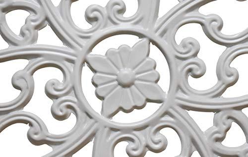 Buy white metal wall decor