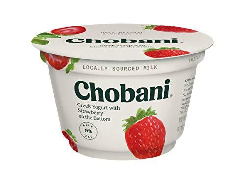 Chobani Strawberry on the Bottom Non Fat Greek Yogurt, 5.3 Ounce -- 12 per - Yogurt Greek Chobani