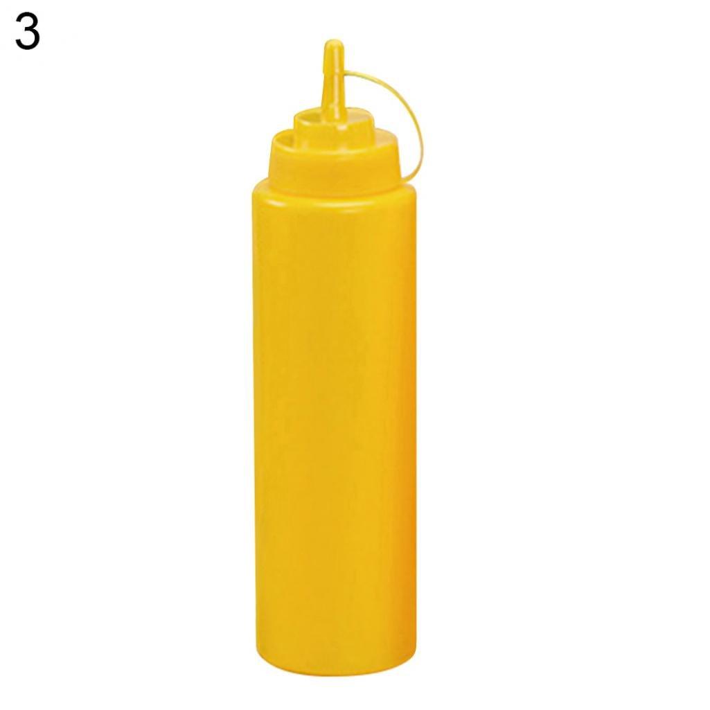 8/12/16/24/32oz Kitchen Squeeze Bottle Condiment Sauce Vinegar Ketchup Dispenser - White 8oz Hearsbeauty