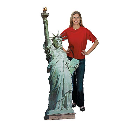 Fun Express - Statue Of Liberty Standup for Fourth of July - Party Decor - Large Decor - Floor Stand Ups - Fourth of July - 1 Piece