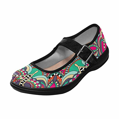 InterestPrint Womens Comfort Mary Jane Flats Casual Walking Shoes Multi 15 aZxawD