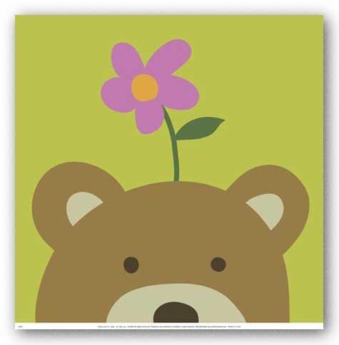 Peek A-boo Vi Bear - Peek-a-Boo VI, Bear Art Poster Print by Yuko Lau, 12x13 Art Poster Print by Yuko Lau, 12x13