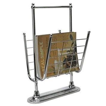 Organize It All Free Standing Magazine Rack, Chrome