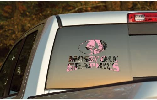 Mossy Oak Graphics 13007-BUP-L Break-Up Pink 14.25 x 9 Camo Logo Decal