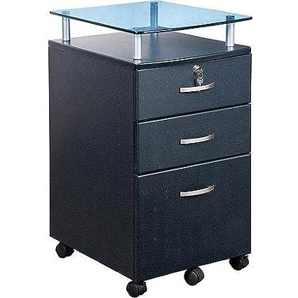 Sturdy Vetro Rolling File Cabinet, Graphite   Grey