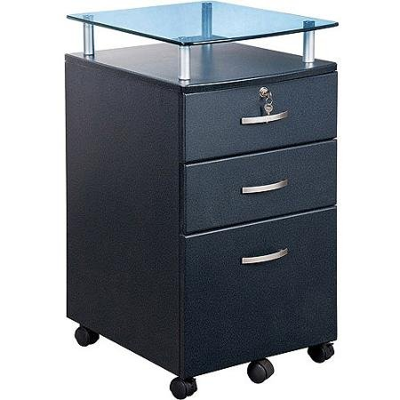 Vetro Rolling File Cabinet, Graphite by Generic