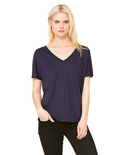 Bella + Canvas Ladies' Slouchy V-Neck T-Shirt, Midnight, X-Large