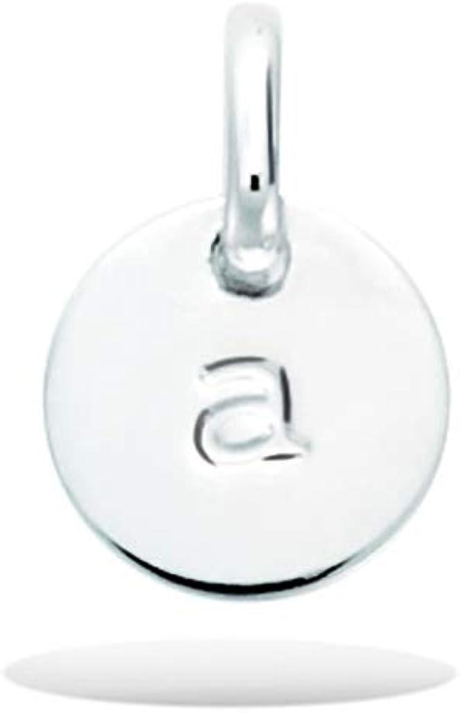 M/édaille Ronde 8 mm Breloque Initiale Minuscule Tata Gis/èle Pendentif en Argent 925//000 Rhodi/é
