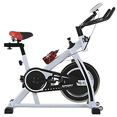 Cycling Bike Exercise Bike Indoor Cycling Spin Bike Bicycle Cardio Fitness Cycle Trainer Heart Pulse w/LED Display Exercise Bikes Stationary Indoor