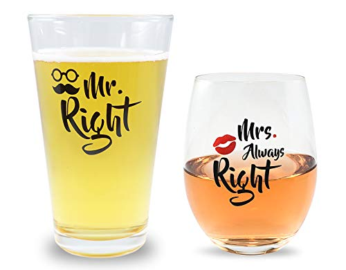 Mr Right and Mrs Always Right Novelty Beer