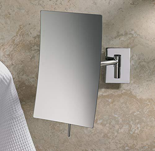 MARRIOTT Minimalist Wall Mount Mirror - Swivel Wall Mirror with 3X Magnification -
