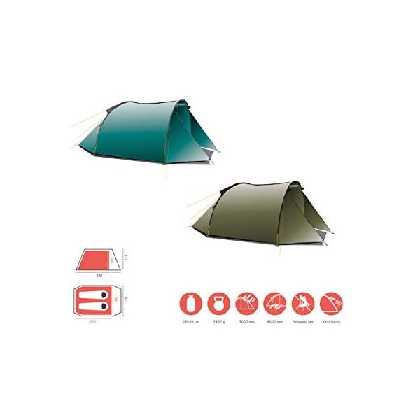 41qHbY31XGL Grand Canyon Tunelzelt Robson 2 Personen Zelt Familien Camping Leicht Vorraum