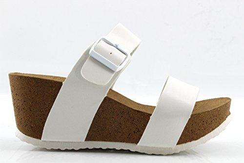 Modelisa - Sandalias Plataforma Mujer Blanco