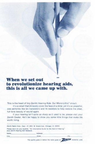 1967 Zenith Hearing Aids Vintage Retro Magazine Advertising Vintage Ads (Best Hearing Aid Ads)