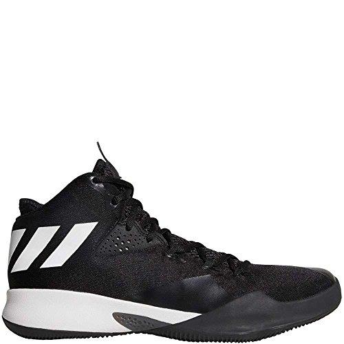 Zapatillas De Baloncesto Adidas Dual Threat 2017 - Hombre Core Negro-blanco-gris