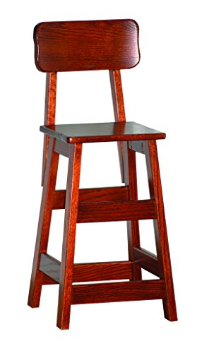 Furniture Barn USA Heirloom Cherry Toddler Kitchen/Dining Stool with Back ()