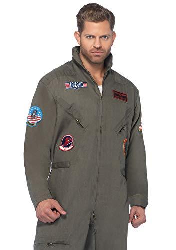 Leg Avenue Men's Top Gun Flight Suit Costume for $<!--$71.80-->