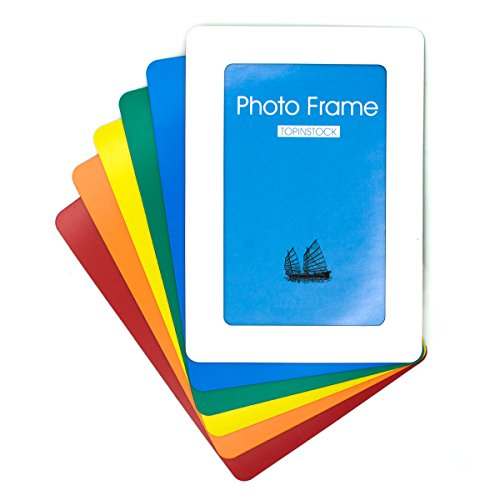 TOPINSTOCK Magnetic Picture Frames for Refrigerator 6 Colors Hold 4x6 Photos, 6 - Magnetic Orange Frame