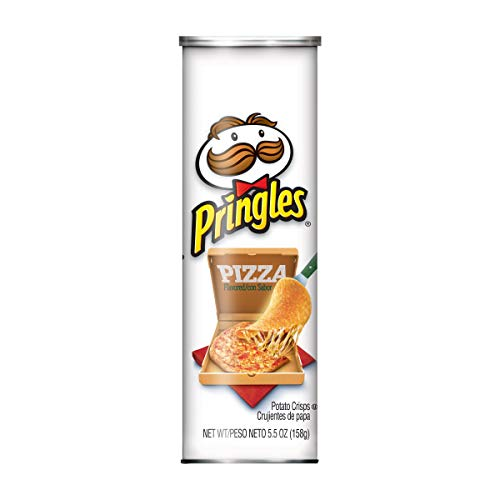 Pringles Potato Crisps Chips, Pizza Flavored, 5.5 oz Can