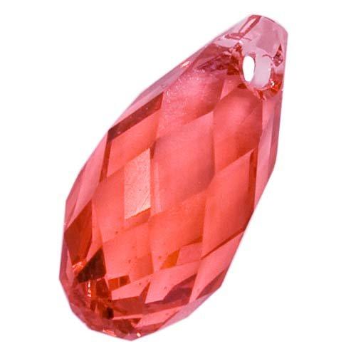 (Swarovski Crystal, 6010 Briolette Pendants 11x5.5mm, 2 Pieces, Padparadscha)