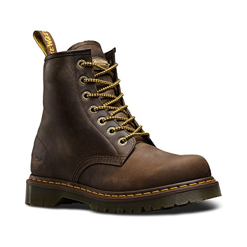 Dr. Martens Men's 7B10 Slip Resistant NS 7 Eye Boots, Brown Leather, 11 M UK, 12 M - D&g Uk Co