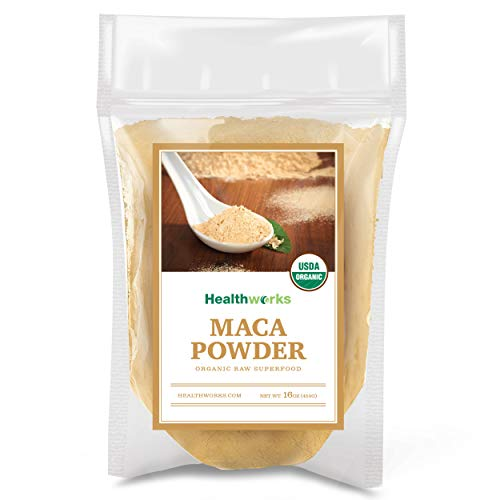Healthworks Maca Powder Raw Organic 1 Pound