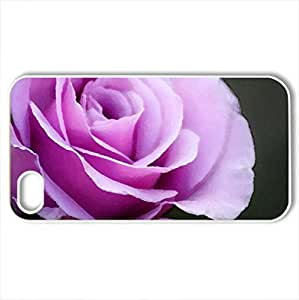 Beautiful Purple Rose - Case Cover for iPhone 4 and 4s (Flowers Series, Watercolor style, White)