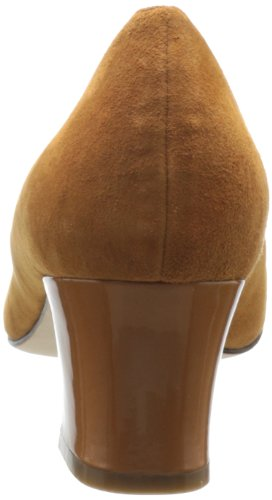 Cole Haan Donna Chelsea A Zampa Tacco Pompa Camello In Camoscio