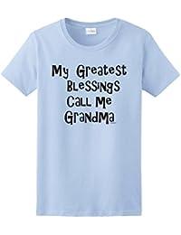 My Greatest Blessings Call Me Grandma Ladies T-Shirt