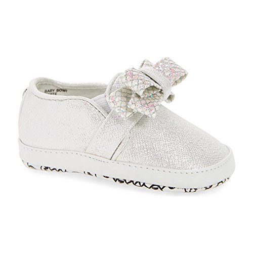 Michael Kors Girl's Baby Bowi Fashion Sneaker White - Kors Michael Infant