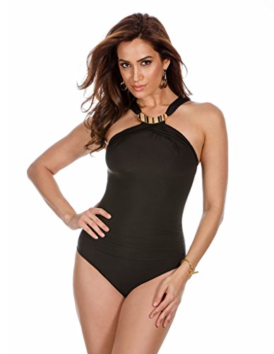 Miraclesuit-Womens-Miracle-Solids-Bijoux-One-Piece-High-Neck-Swimsuit