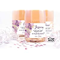 PERSONALIZED Can't Say I Do Without You, Purple Floral mini champagne or mini wine labels, SET OF 10