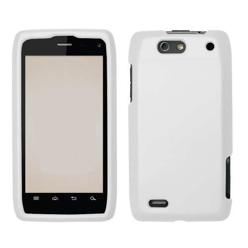 Motorola Droid 4 XT894 Cell Phone Rubber White Protective Case Faceplate Cover