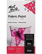 Mont Marte Signature Fabric Paints 12pc x 20ml (0.7oz)