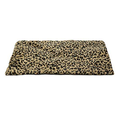 FurHaven Pet Heating Pad | ThermaNAP Faux Fur Self-Warming Cat Bed, Leopard Print