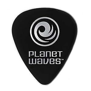 Planet Waves 1CBK4-10 Celluloid Standard Picks 0.70mm Medium - black (10 pack)
