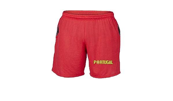 Speed – Pantalón Corto chándal Rojo WC0103 Portugal Rojo S: Amazon ...