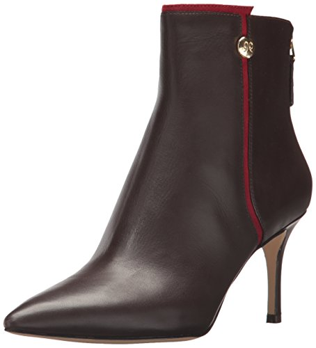Nine West Women's Monsoon Ankle Boot, Dark Brown/Red, 6.5 Medium US