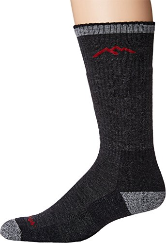 Darn Tough 1403 Men's Merino Wool Boot Sock Cushion, Black, Large (10-12)