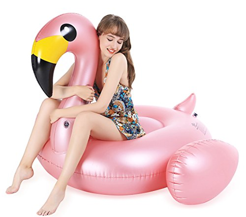 Jasonwell Inflatable Big Flamingo Pool Float with Rapid Valves Summer Outdoor Swimming Pool Party Lounge Raft Decorations Toys for Adults & Kids (Pool Toy Lounge)