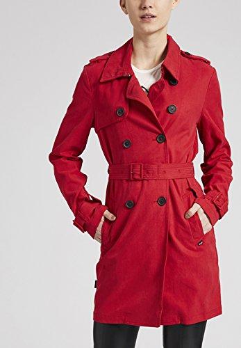 para Larga Manga Básico Blusa Mujer Khujo Rojo Abrigo wqzvFqtg