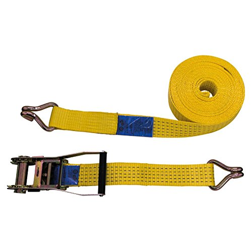 Petex 43192919 Ratschenspanngurt 2-teilig, 10 m, 50 mm, 2500/5000 daN, Doppelspitzhaken, Ratsche 23 cm, gelb Petex Autoausstattungs GmbH